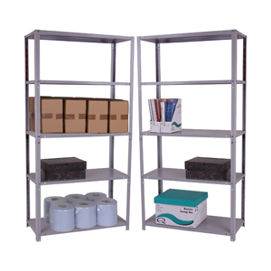 UK Manufactured Bolted Office Shelving ZZBS5GR153C09020 Standard