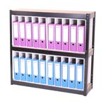 Boltless Office Shelving for files or Archive box storage - VZRBFU3.jpg